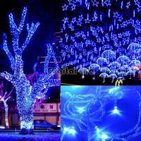 Christmas 2014 50M 300 LED Blue Lights Decorative Wedding Fairy Christmas Tree Party Twinkle String Lighting EU TK0585