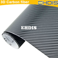 Free shipping high quality 3D Carbon Fiber sticker vinyl Film1270mmx300mm with 1pc 3M squeegee car wrap tool