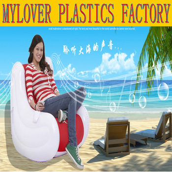 New product music singal inflatable sofa & european sofa &air mattress  lazy sofa bed & inflatable with music modern furniture