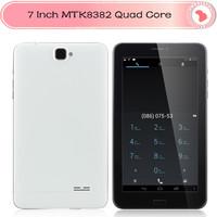 Cheap 7 inch MTK8382 Quad Core 3G Tablet Android 4.2 Dual sim slot,dual camera ,bluetooth,gps 1024x600 1G/8GTablet