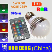 Sale led rgb bulbs 9w E14/B22/E27 Crystal led Light with Remote Control led lamps free shipping