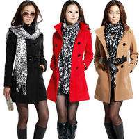 OWIND 2014 New Arrival Women's Winter Wool Coat Fashion Female Outerwear Hot Selling Cashmere Coat