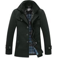 Winter Man Woolen Jacket Coat  Long Men's Wool Trench Coats Jackets For Men Outdoor Out Wear Windproof Warm Parka Overcoat