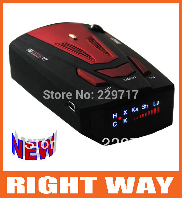 Wholesale 360 Degree Detection Voice Alert Car Radar Detector Russia and English Voice for Car Speed Limited(China (Mainland))