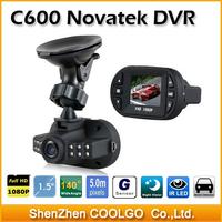 Newest Mini Size FHD 1920*1080P Novatek Chipset 12 IR LED Car Vehicle CAM Video Dash Camera C600 Recorder Russian Car DVR