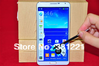 New Galaxy 1:1 Note 3 SM-N900 phone 5.7'' HD Quad core Unlocked 3G Android4.3 MTK6589 With Air gesture Note III phone  free ship