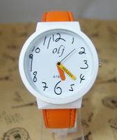 Fashion High Quality multi colors Pencil Hand Cartoon Watch Children Women Dress Wrist Watch New Arrival OLJ-11