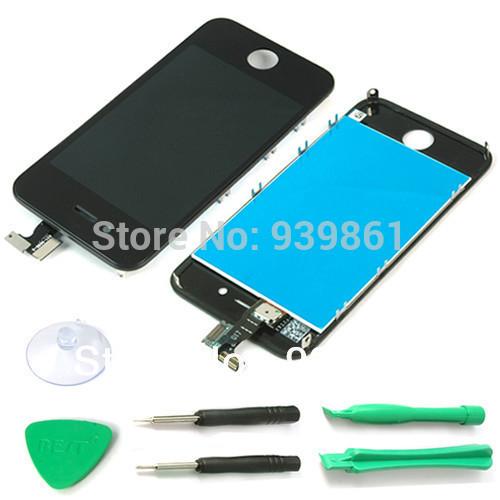 Handy LCDs bildschirm mit touch-digitizer ersatzteile montage für iphone 4 4g dhl versandkostenfrei