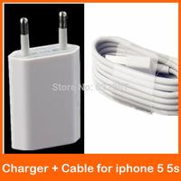 2pcs/set travel kit IOS8 8 pin USB 2.0 Data Cable + EU / USA USB Plug Wall Charger for iPhone 5 5s 5C 6 ipad mini 10 colors hot