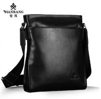 2014 Brand men leather Messenger bags Designer Genuine cowskin High quality shoulder bags MBJ98024H free shipping