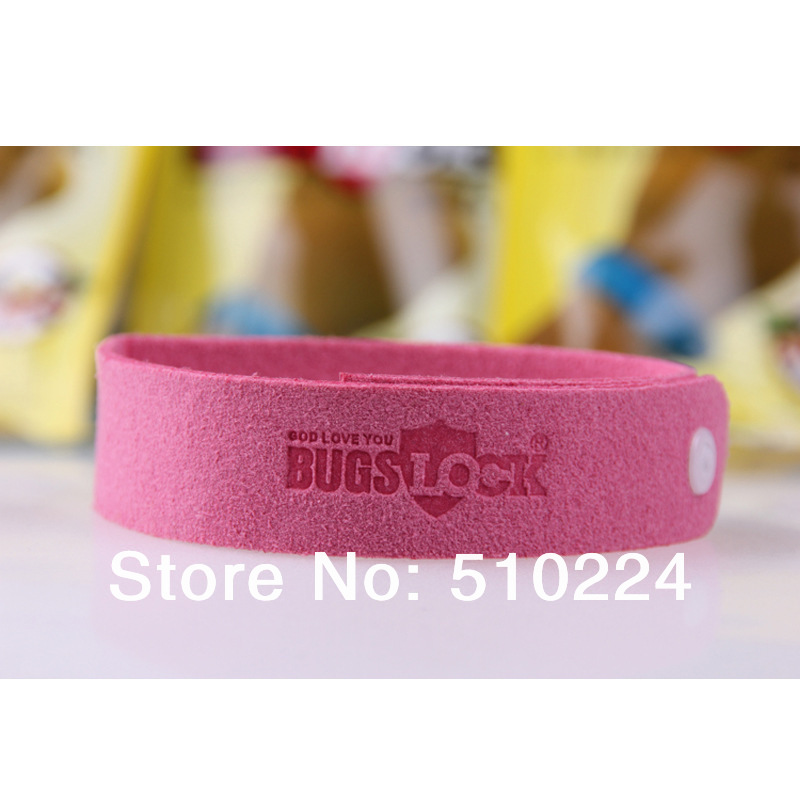 Free shipping 10 Bugslock Mosquito repellent bracelet hand strap 1pc in a bag, 10pcs/lot ,500pcs/ctn(China (Mainland))
