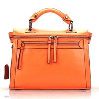 Genuine leather bag office lady cowhide handbags vintage motorcycle bag designer women handbag shoulder bag women messenger bags