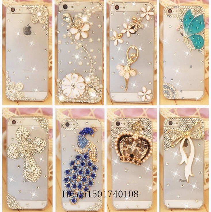 Rhinestone Case For Apple Iphone 5 5s Iphone 4 4s,New Arrival Crystal Diamond Hard Back Skin Mobile phone Case Protective Shell(China (Mainland))