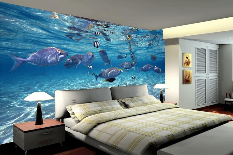 Fototapete Unterwasserwelt : 3D Wall Murals Underwater