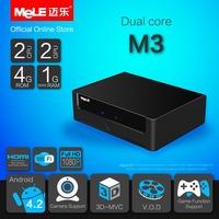 Dual Core Mini PC Android TV Box Android 4.2 MeLE M3 Cortex A7 1GB RAM 4GB ROM Full HD 1080P HDMI VGA AV RCA Port WiFi LAN