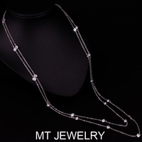 MT Limited Best Quality Costume Jewelry Bead Bezel Set Imported Necklace Bridal