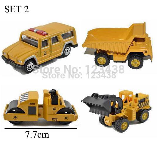Mini Metal Alloy Diecasts & Toy Vehicles Crane Hoist Lift Road Roller Grab Digger Excavator Dump Truck Dumper Lorry Engineer(China (Mainland))