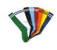 New 2015 High Quality  Children  boys Football Socks Their knitting Thin Kid's Sports Stockings10 Color stripe Socks Child