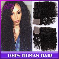 Cheap Peruvian Virgin Hair Water Wave Swiss 1pc Lace Closure With Hair Bundles 4pcs 5pcs Lot Wet and Wavy Rosa Hair with Closure