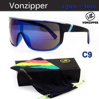 Good Quality Brand Vonzipper Sunglasses Women & Men Sunglass Over Size Sun Glasses Eyewear with Box