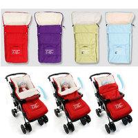 Coral fleece Baby Stroller Sleeping Bag Newborn Envelope Cart bag kid winter Stroller Sleepback Thicken Blanket carrinho de bebe