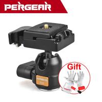 "New Pergear TH1 Mini 360 angle Panoramic Rotation 1/4"" 3/8"" Ball Head Ballhead for DSLR Camera System P0014087 Drop Shipping"