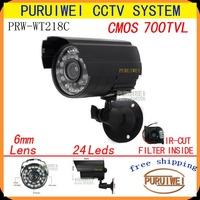100% Original CMOS 700TVL IR-CUT Filter 24leds IR Outdoor Weatherproof Day Night Vision Security CCTV  Surveillance with bracket