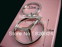 2pcs/Lot free shipping Benz vehicle key ring / car logo keychain