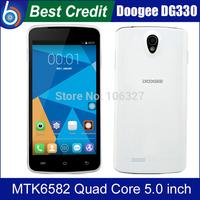 In stock!Original DOOGEE MINT DG330 5.0inch MTK6582 Quad Core Smart Phone RAM 1GB ROM 4GB WCDMA 3G WiFi Free shipping/Kate