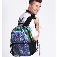 Men's Fashion Street Backpack Zoo Animal&Skull printing Casual Daypack Mochila Backpack Men 2014 BBP109