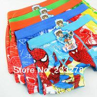 5pcs/lot spiderman boys underwear briefs cartoon characters calcinha infantil boxer shorts kids children pantie pants clothing