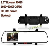 "1080P Full HD Car Rearview Mirror DVR Novateck Chip 5M CMOS+2.7"" Screen+162 Ultra-Wide Angle+Night Vision+Bluetooth CZ07 OT12"