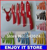 высокое качество керамических ножей 3» 4» 5» 6» 7 «дюйм + Овощечистка 6шт в набор шеф ножи с белым лезвием ck025