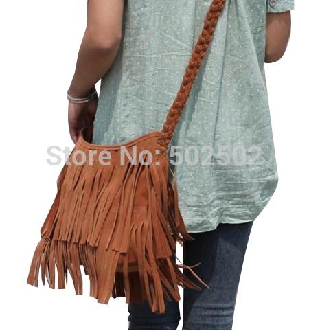 New 2014 Women's Hot sale Suede Fringe Handbags women's fashion Tassel Shoulder Bag messenger bags Handbags HS-5-L10(China (Mainland))