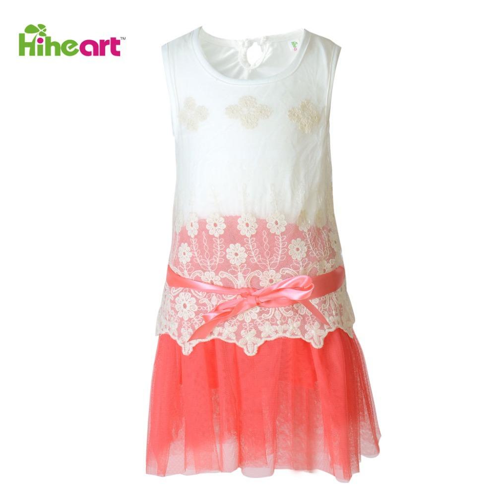 Free Shipping Girl Dress Summer Cotton Flower Vestidos De Menina Sleeveless Lace Kid Clothes Fashion Baby Girl's Dress(China (Mainland))