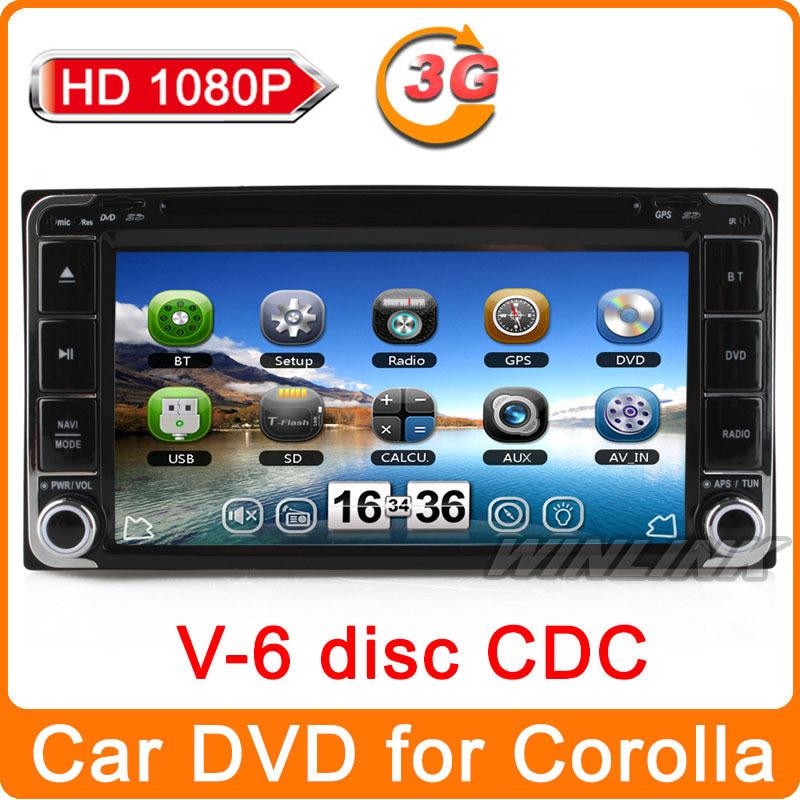 "2014 New HD 1080P 7"" car dvd Player for universal Toyota Corolla EX YARIS UGER Avensis 2001-2006 GPS Navigation navi multimedia(China (Mainland))"