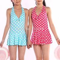 Children Girl Swimwear One Piece Polka Dots Girl Princess Swimsuit Bathing Suit Swimming Wear