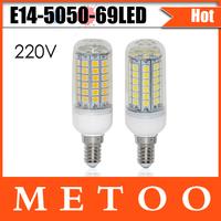 Super bright 15W E14 led lamps 220V 5050 SMD 69 LEDs High Quality Chip 5050 LED luminaria Light Wholesale