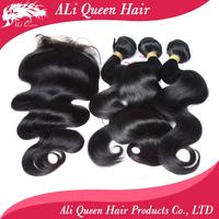 "malaysian virgin hair malaysian body wave human hair 3pcs weft with 1pcs (4"" * 4"") lace closure"
