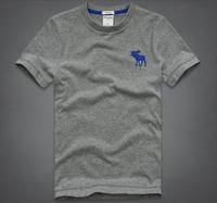 2014 new fashion men's cotton round short-sleeved T-shirt, European and American fashion big yards Men's T-Shirt free