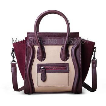 Moti bags women retro zipper spell color nubuck smiley bag hand bag women bag PM 122
