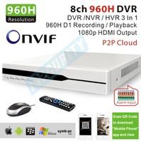 Zmodo OEM cctv 8channel 960H H.264 network Cloud service cctv dvr StandAlone recorder system usb 3G Wifi PTZ alarm for home