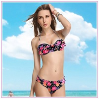 Free Shipping Drop shipping Factory Wholesales 2014 New Swimwear Bandeau Bikini Fashion Cheap Sexy Swimsuits 1401F