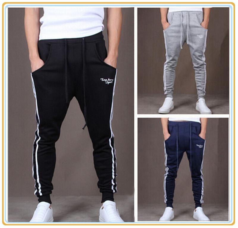 Hot new 2014 Autumn Brand Design Mens Pants Mens Joggers Loose Fashion Casual Pants Men's Sports Pants Slim Pants Free Shipping(China (Mainland))
