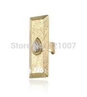 Australian Brand WeddingTrendy Lovers' 2014 Accessories Fashion Popular Retro Vintage Stone Ring Drop Like The Wild Ones - Gold