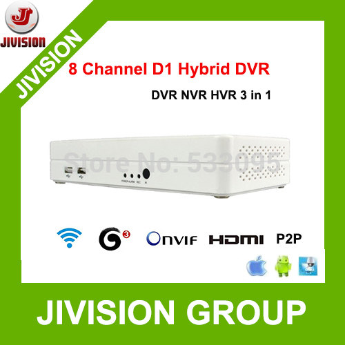 ONVIF mini NVR 8CH Hybrid DVR HDMI 1080P H.264 P2P Cloud network video recorder nvr 8ch CCTV DVR(China (Mainland))