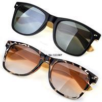 Promotion 2014 Beauty Unisex Handmade Bamboo Sunglasses Fashion Men Women Rivet Glasses Eyewear Eyeglasses UV 400 SV000289 B19