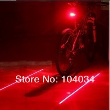 Bicycle Laser Tail Light( 2 Lasers + 5 LEDs) 7 Mode Bike Safety Red Rear Warning Light Cycling Safety Caution Lamp(China (Mainland))