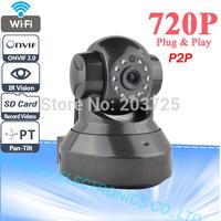 Onvif 2.0 Dual Video Scream P2P 720P MegaPixel HD Wireless IP Camera with Pan/Tilt SD Card Slot and IR Cut 720p(1280x720)