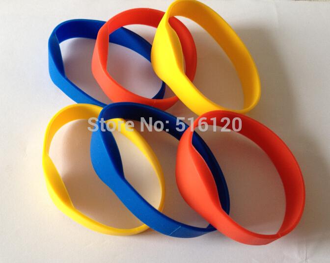 (6 pcs/lot) 13.56Mhz RFID Bracelet Wristband MF1KS50 Proximity Waterproof Silicone NFC Smart Watch Type for Access Control(China (Mainland))
